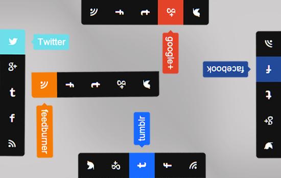 قنبلة الموسم كود أزرار التواصل الإجتماعي الجانبية بشكل احترافي Social+sidebar+for+blogger