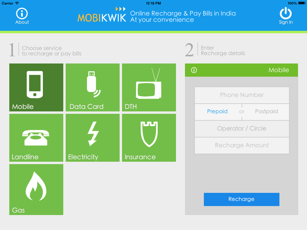 Easiest And Fastest Mobile Recharge Bill Pay By Mobikwik