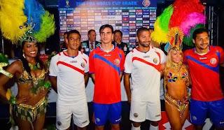 Le maillot du Costa Rica de la Coupe du monde 2014