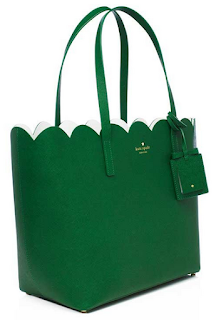 Kate Sapde Lily Avenue Carrigan Tote-Sprout Green/Bright White