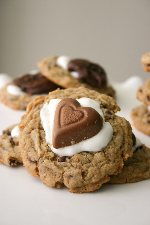 Graham Cracker Chocolate Chip S'mores Cookies.