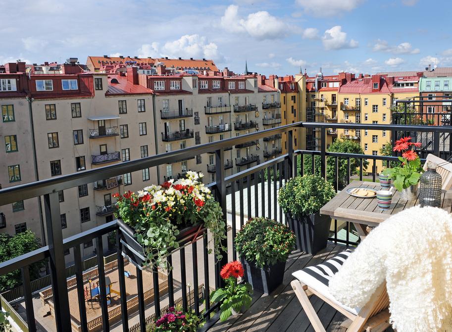 21 балкон в скандинавском стиле - фото.