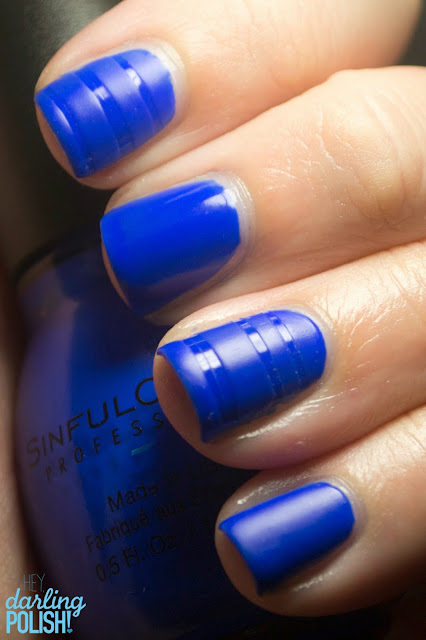 Nails, Nail Art, Sinful Colors Endless Blue, Blue, Matte