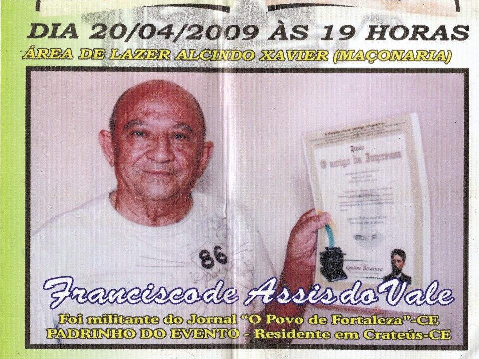 A  PRIMEIRA FESTA  O AMIGO DA IMPRENSA  SE DEU  NESTA DATA  FOI OS 200 ANOS DA IMPRENSA