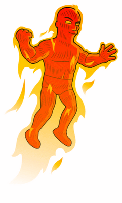 Human_Torch_Marvel_Comics_Simpson