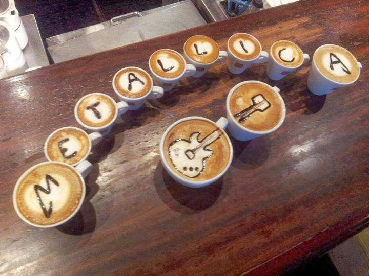 Tazas de cafe tributo a Metallica