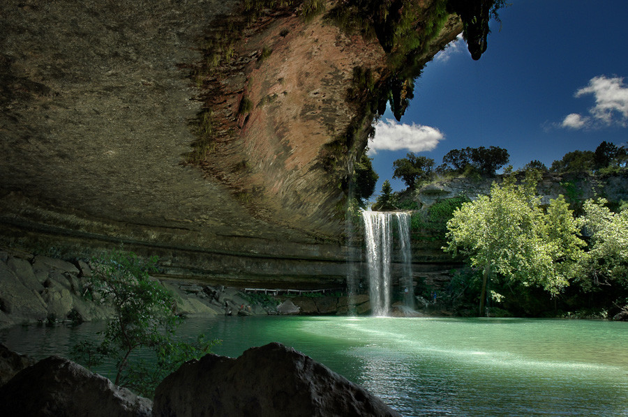Hamilton pool protect in texas for Most beautiful places in america nature