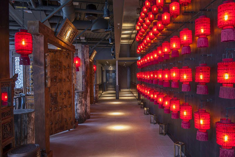 mejores diseños de interiores de bares y restaurantes del mundo, Hutong Shard