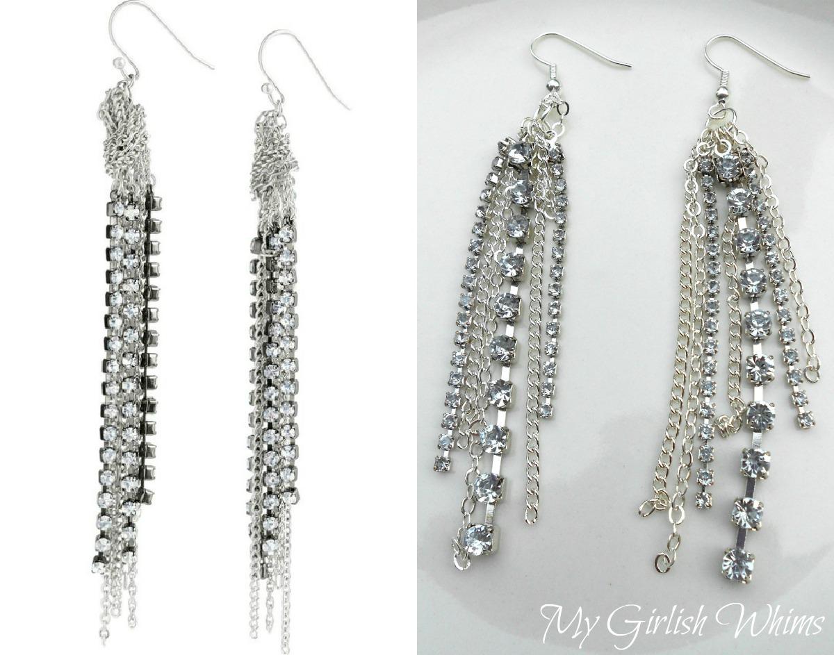 Jewelry KnockOff Stella Dot Rhinestone Chain Earrings My