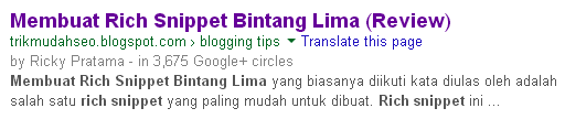 Cara Hapus Rich Snippet Jenis Bintang Lima (Review)