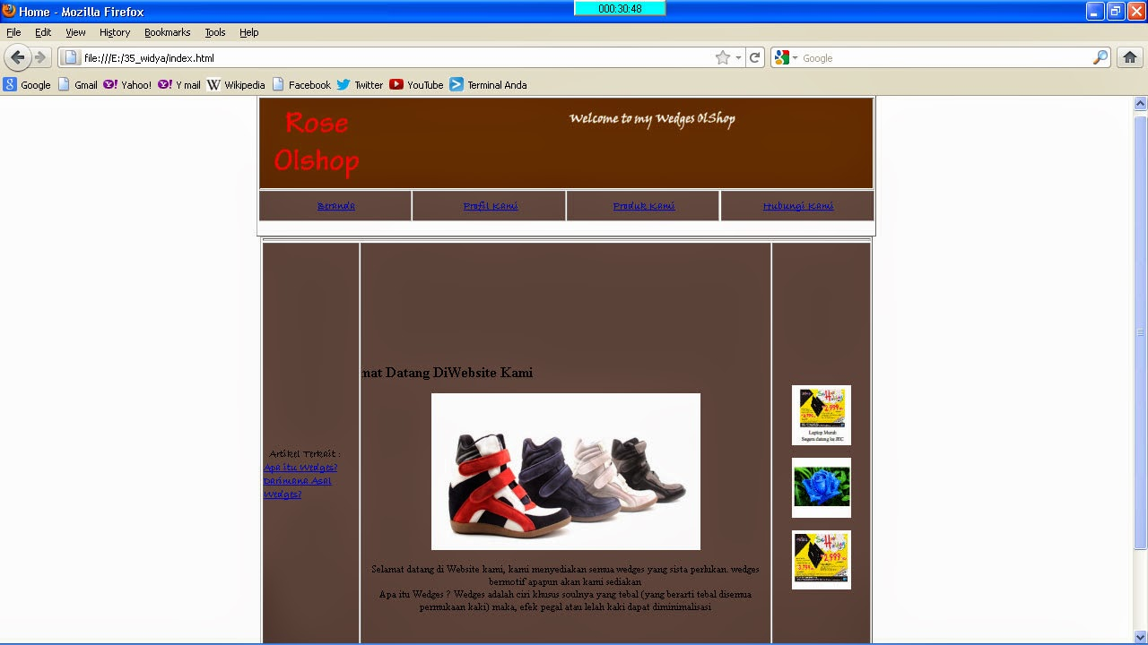 Multimedia: Tutorial Untuk Membuat Website penjualan