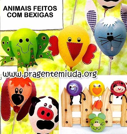 animais e bichinhos de bexigas