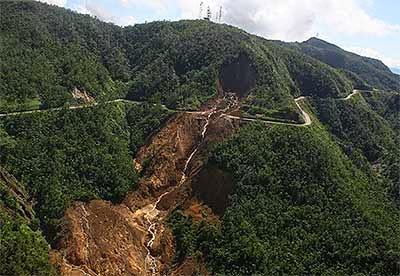 Manito, Albay landslide
