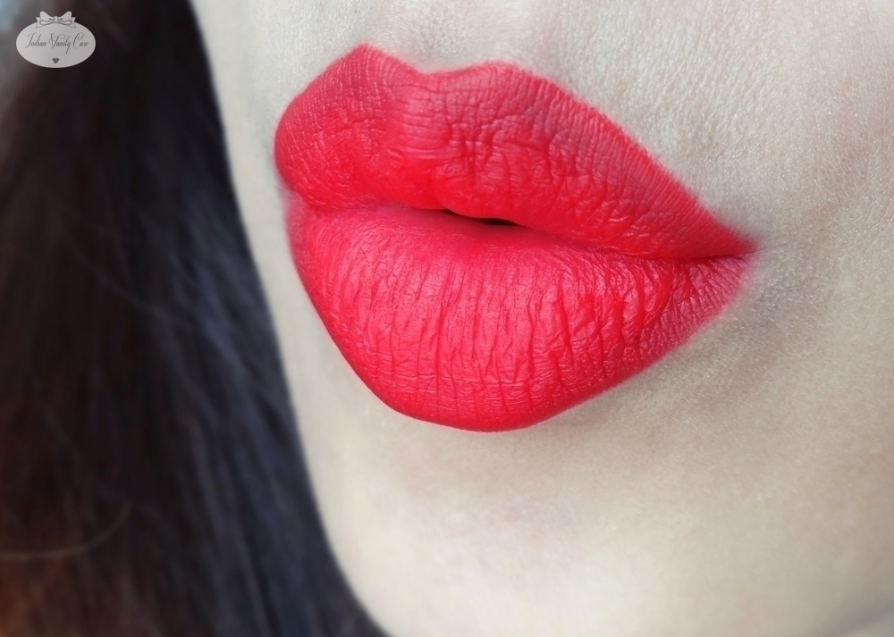 Rose red lips