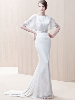 Lace Cape Wedding Bridal Dress Ginger by Enzoani