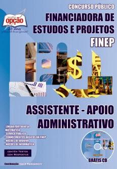 Apostila FINEP Assistente (RJ/SP) Apoio Administrativo (Nível Médio)