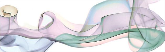 オーロラのような帯状のブラシセット | フリーの煙ブラシ素材色々。