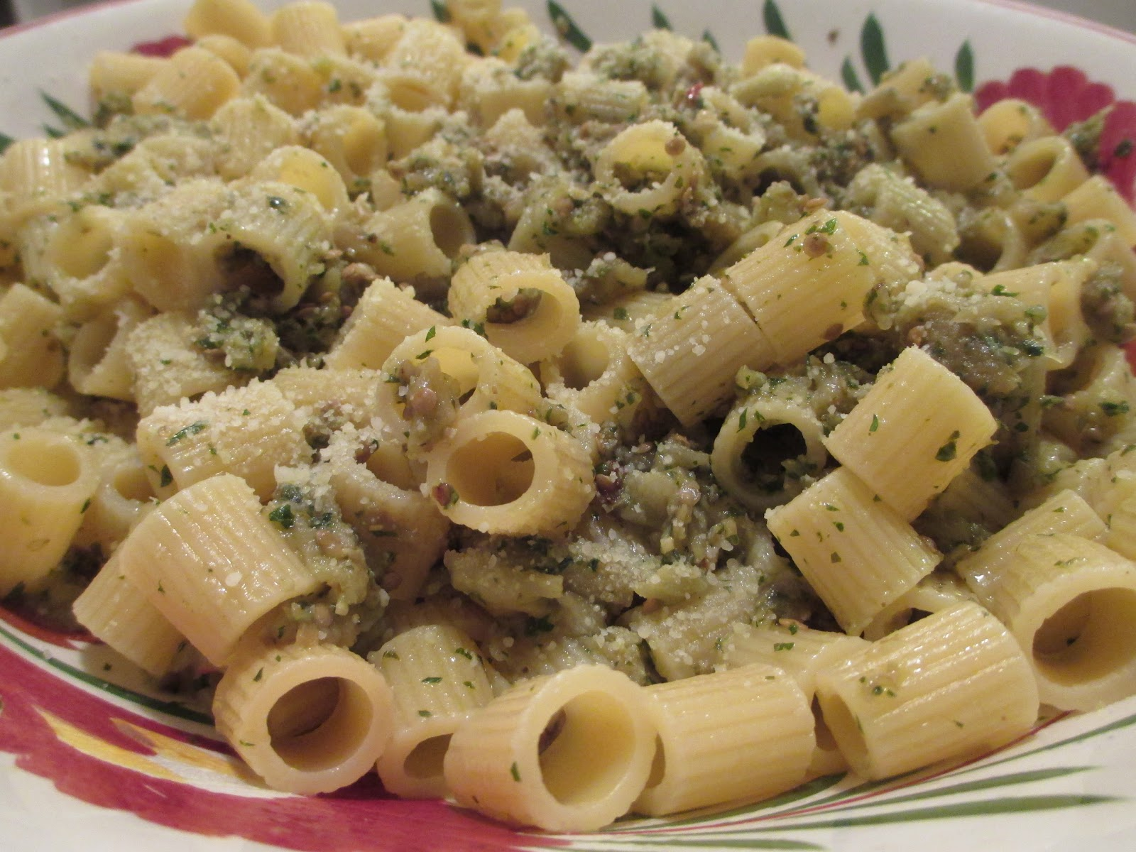 "So what are you making for dinner?"": Rigatoni Con Crema di Melanzane"
