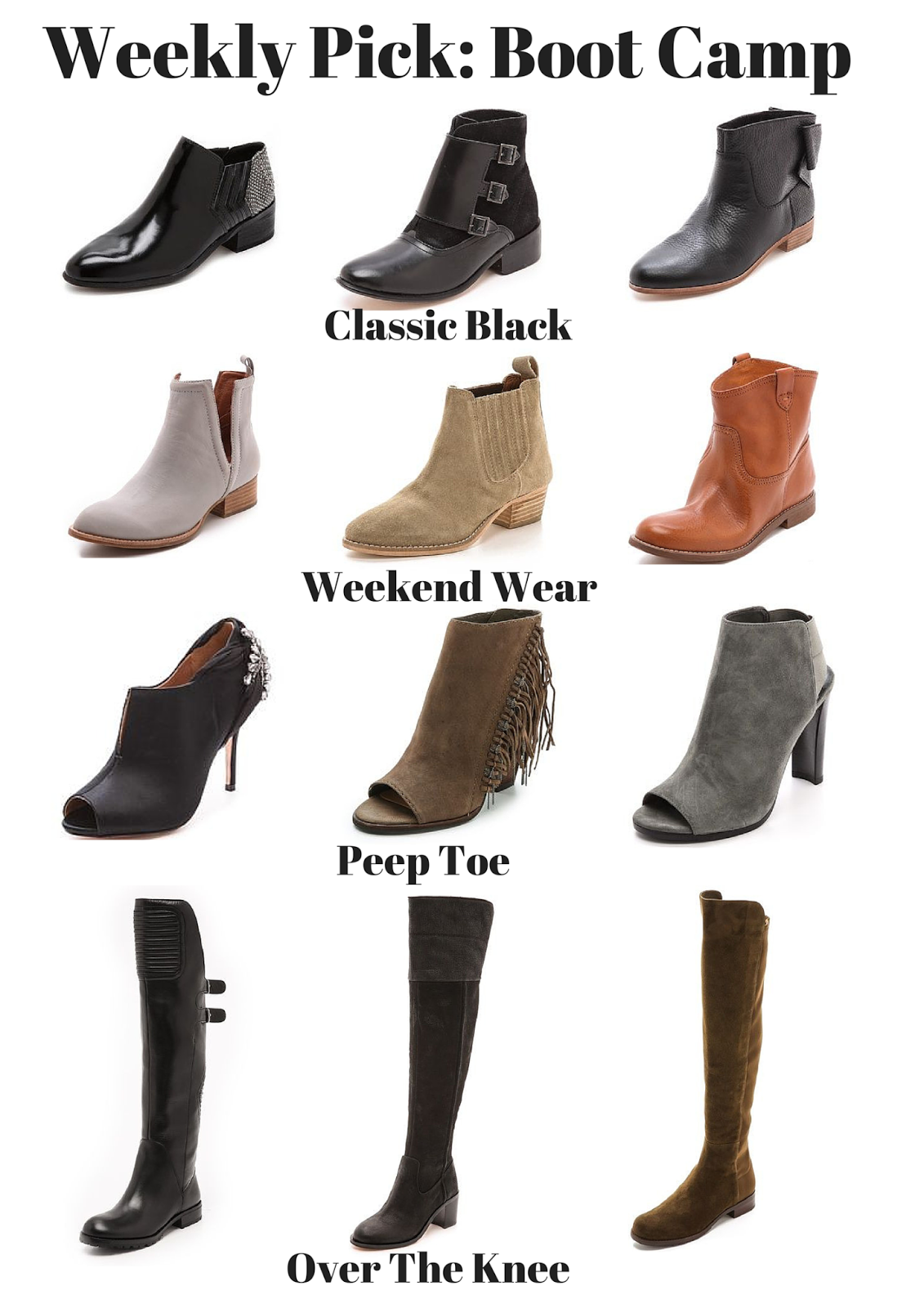 Boot Camp, Shopbop. Fall Fashion