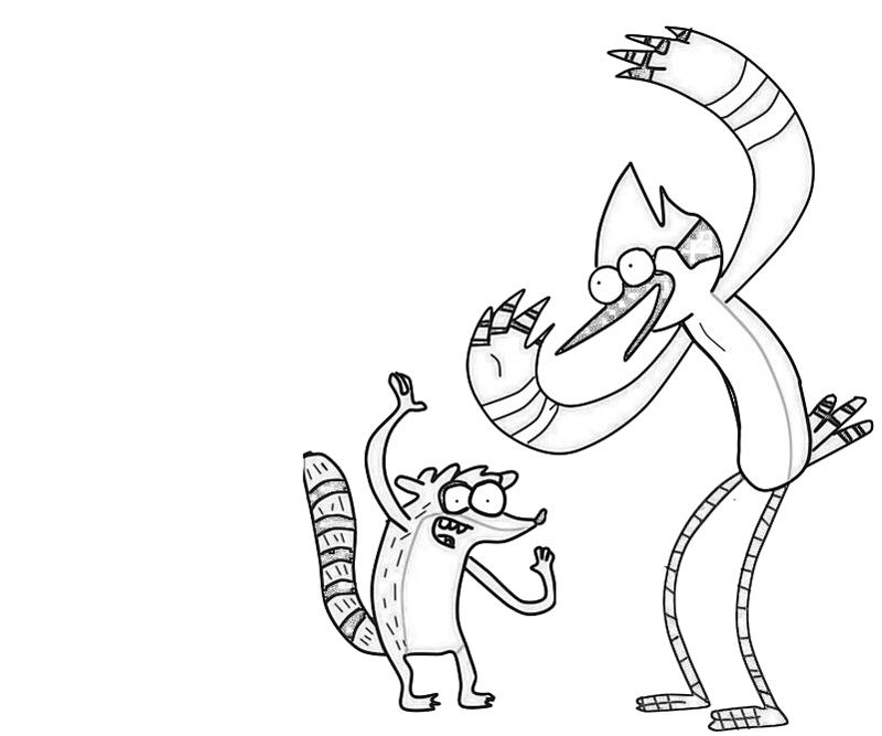mordecai-dance-coloring-pages