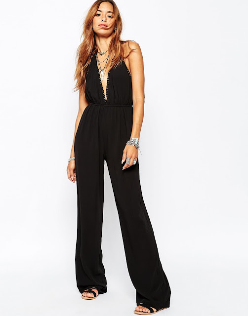 missguided black jumpsuit, halter neck black jumpsuit,