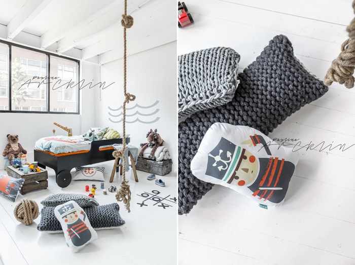 piraten bedding for kids from Moshi Moshi kids © Paulina Arcklin Photography + Styling