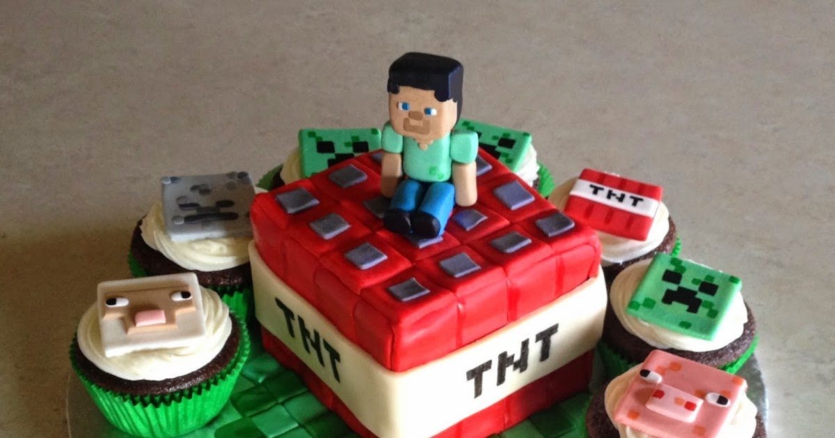 Minecraft Cake Toppers Diy