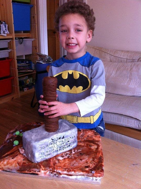 Thor's hammer, in cake form.