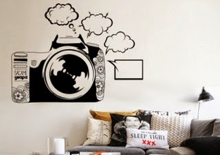 vinilo camara de fotos, vinilos baratos, pegatinas de pared originales