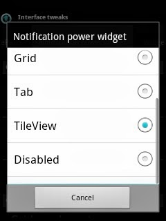 notification power widget style cyanmobile x