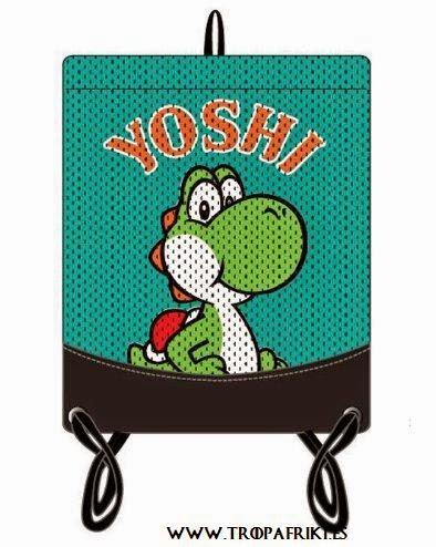 Mochila friki Cuerdas Mario Bross de Nintendo bolsa cuerdas yoshi
