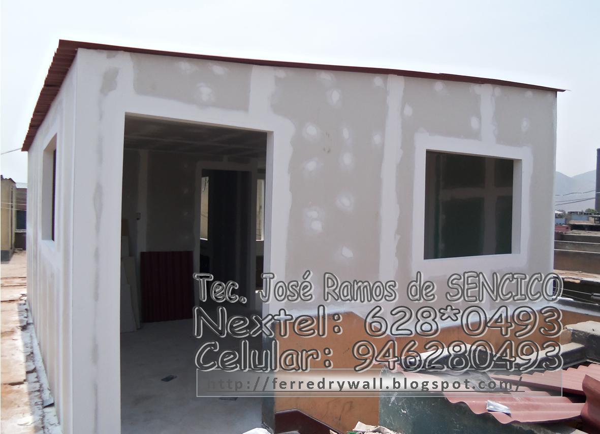 Ferredrywall ampliaciones en azoteas for Techos de drywall para dormitorios