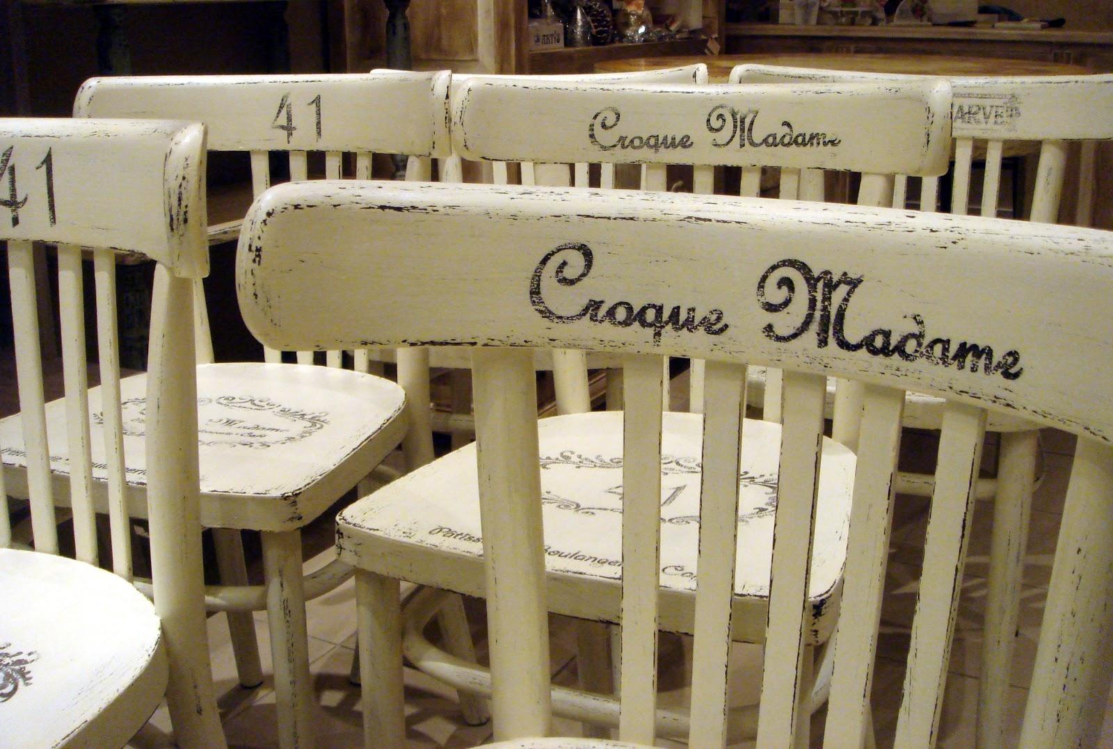Krzesła dla Croque Madame