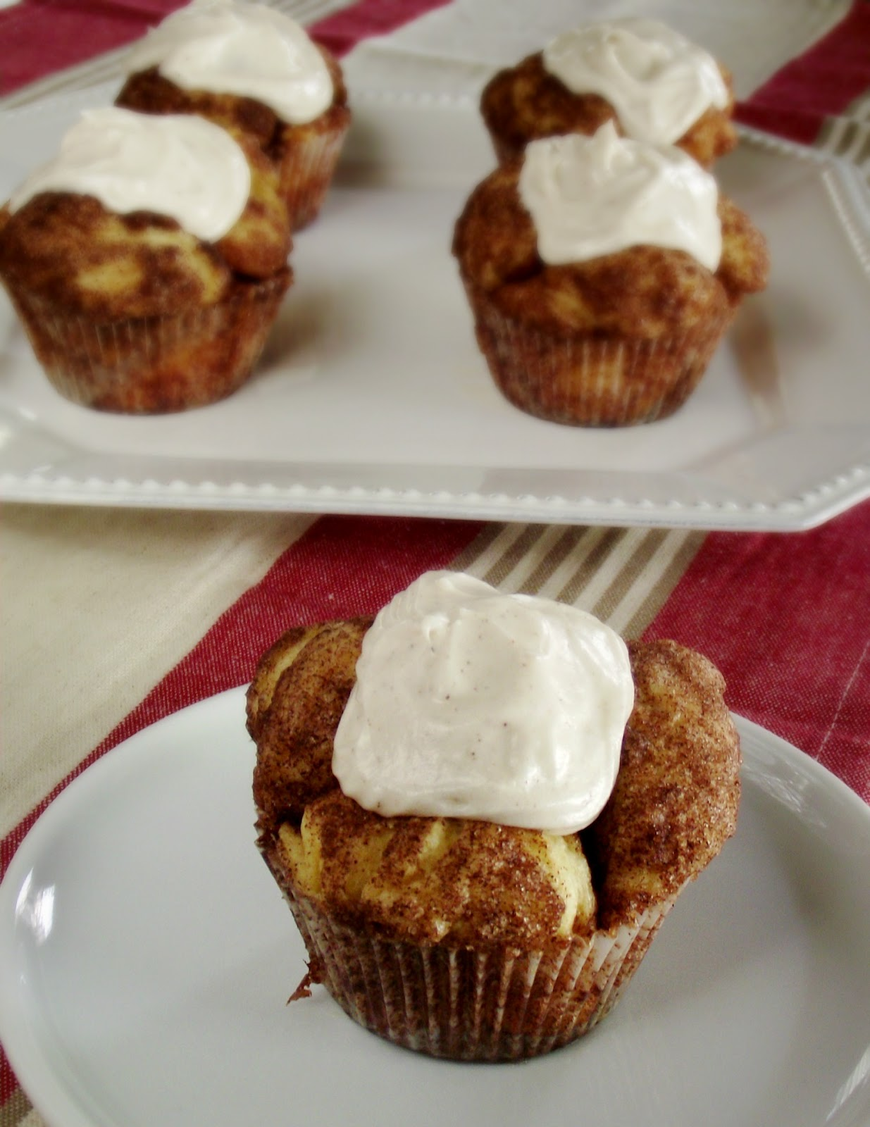 So Domesticated: Monkey Bread Muffins with Cinnamon Cream Cheese ...