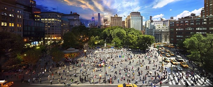 A day in the life of the city: Mesmerising photographs capture 24 hours in just one picture, Photographer takes 1,500 photos to create just one composite image, Stephen Wilkes spends up to 15 hours a day shooting sunrise and sunset.