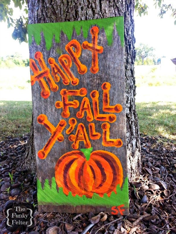 happy fall yall weathered wood handmade yard sign for fall