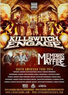 Killswitch Engage y Memphis May Fire