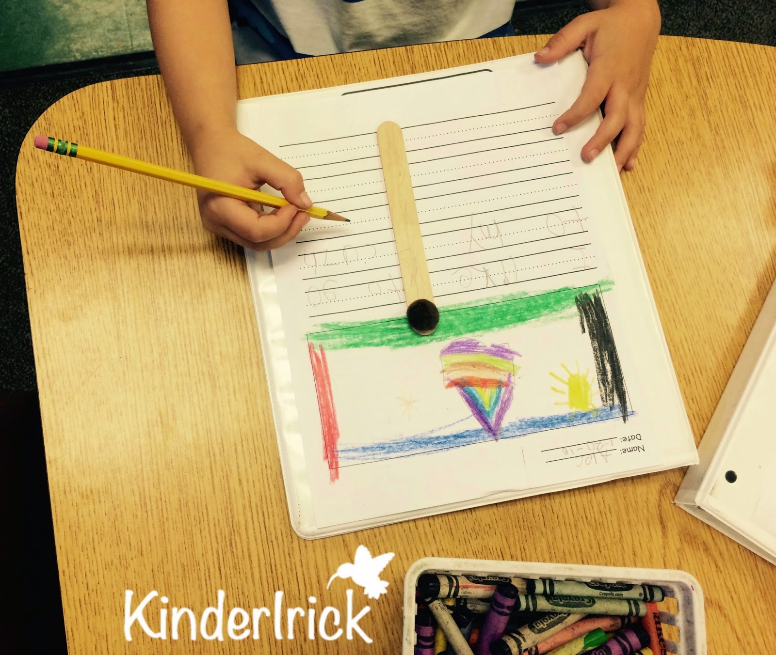 spacing when writing with kindergartners