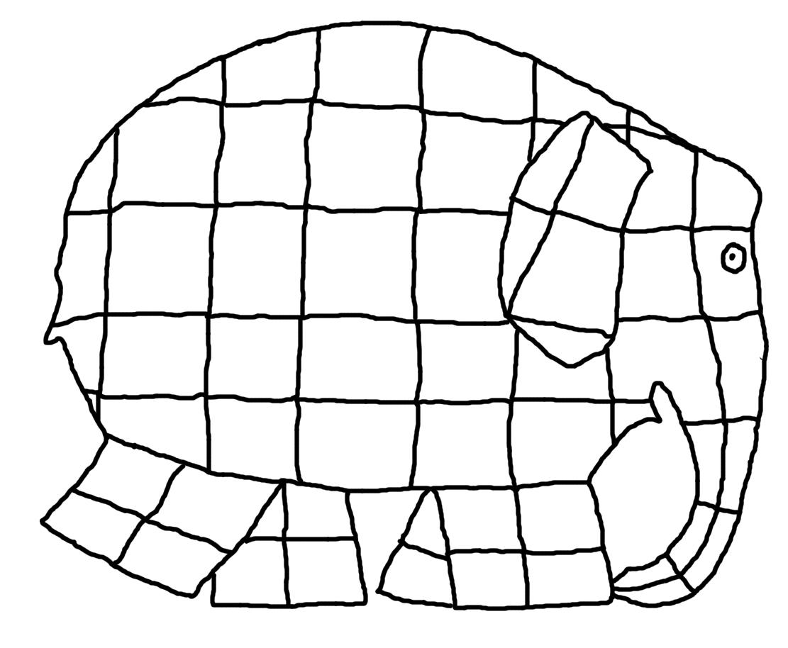 Malvorlage Elefant Elmar ~ Die Beste Idee Zum Ausmalen von Seiten