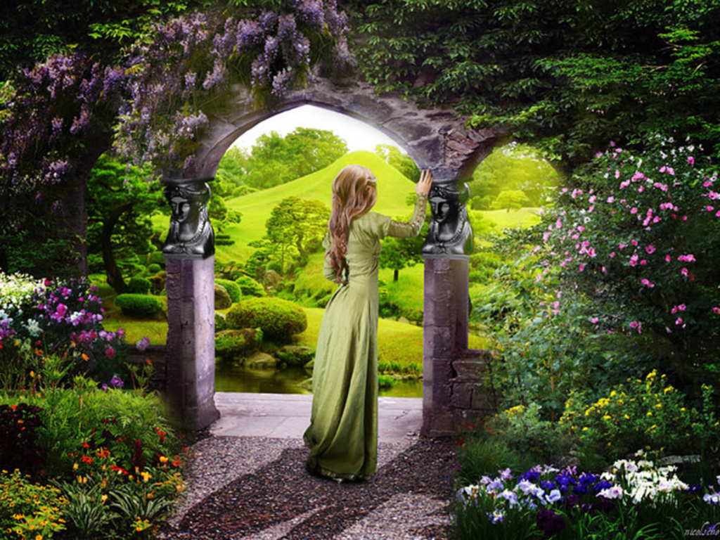 Secret garden postcards