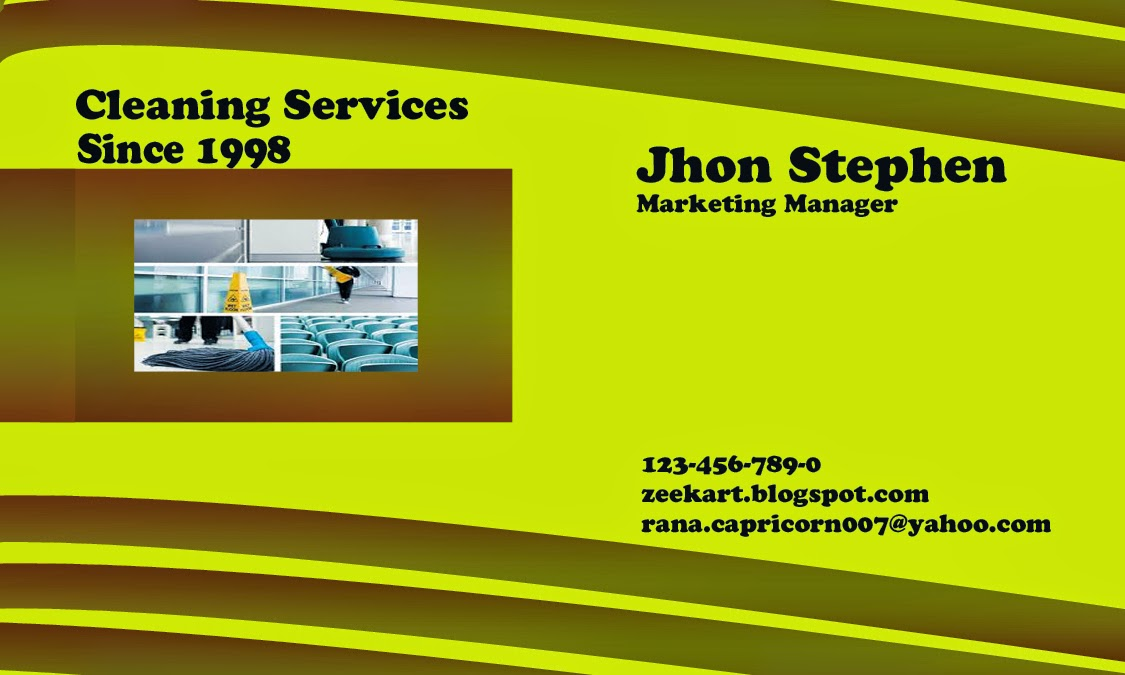 Cleaning service Business Card - Free business cards design