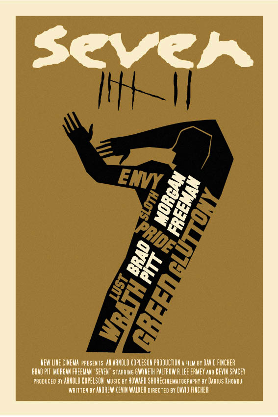 the geeky nerfherder movie poster art se7en 1995