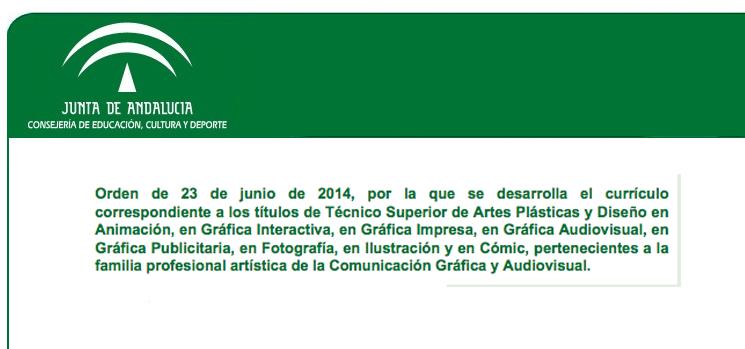 amilia profesional artística de la Comunicación Gráfica y Audiovisual.