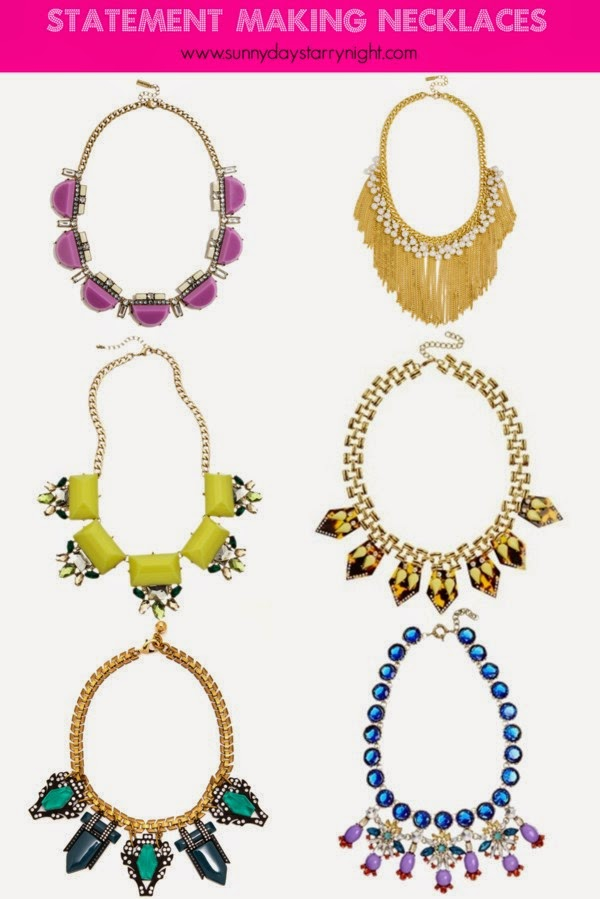 statement making necklaces