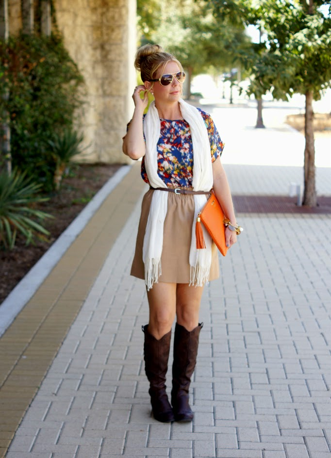 riding boots and j crew factory skirt