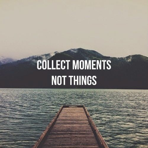 collect moments not things minimalisme