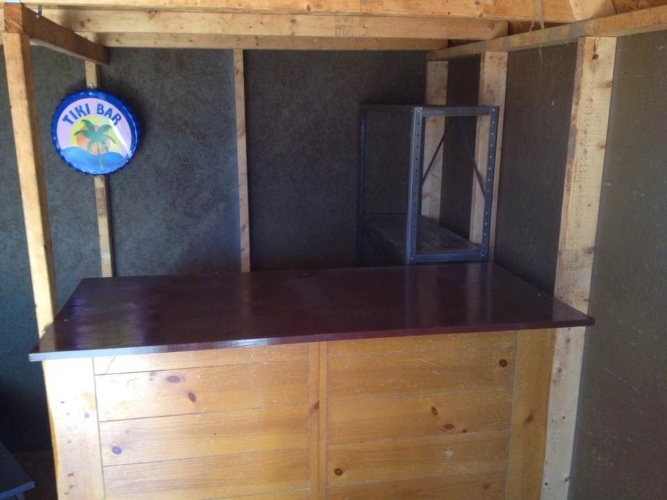 the barshed: shed into bar- we built a bar