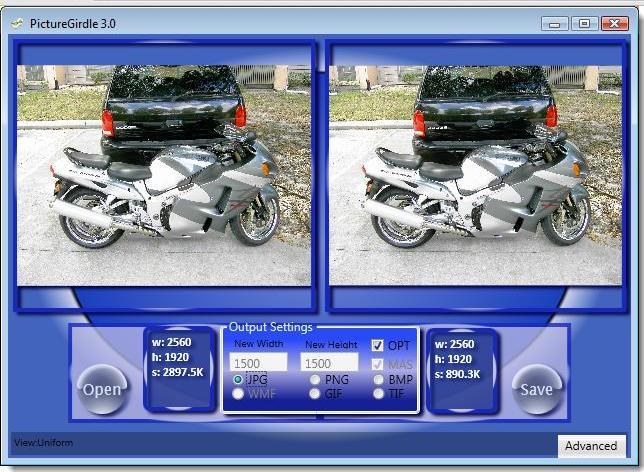 PictureGirdle Programa para Redimensionar Imagenes