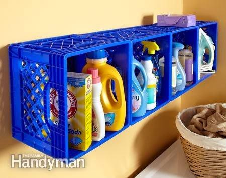 organizar produtos de limpeza