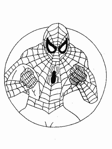 Free Coloring Pages : Spiderman Coloring Pages For Kids